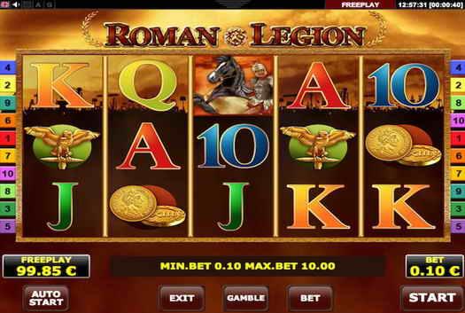free spins at Roman Legion